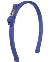 Ferragamo Blue Grosgrain Headband - Lyst