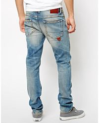 Pepe Heritage | Jeans Buzz Skinny Fit Dirt Repaired | Lyst
