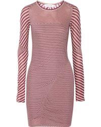 Etoile Isabel Marant Striped Cotton Jersey Mini Dress - Lyst
