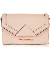Karl Lagerfeld Klassik Mini Textured-Leather Shoulder Bag - Lyst