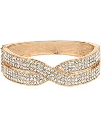 Mikey - Cross Over Crystal Braclet - Lyst