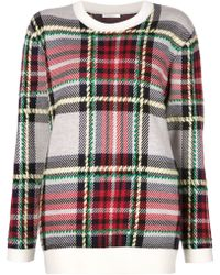Chloé   Checked Sweater   Lyst