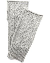 Club Monaco - Lena Cashmere Cable Gloves - Grey - Lyst