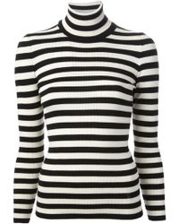 Gucci Striped Roll Neck Sweater - Lyst