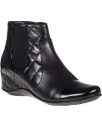 Aquatalia by Marvin K Volt Ankle Boot Black Leather - Lyst
