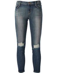 J Brand Distressed Skinny Jean - Lyst