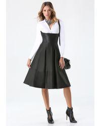 Bebe Leather Ballet Skirt - Black