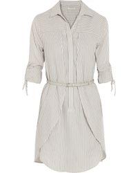 Halston Heritage Striped Cotton-Poplin Dress - Lyst