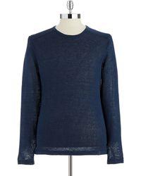 Calvin Klein Long Sleeved Crew Neck Sweater - Lyst