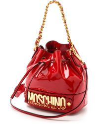 Moschino Bucket Bag - Red - Lyst