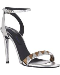 Proenza Schouler Triangle Ankle-Strap Sandals - Lyst