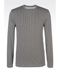 Armani T-Shirt In Printed Viscose Jersey - Lyst