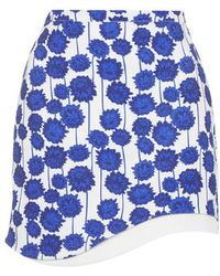 Topshop Wave Hem Mini Skirt - Lyst