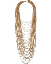Topshop Mega Chain Multirow Necklace - Lyst