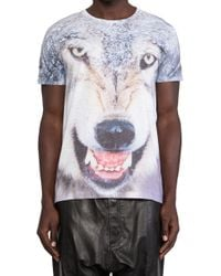 Sons Of Heroes Damaged Goods Wolf Damaged Tee blue - Lyst