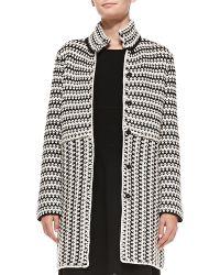 Tory Burch Maxeen Knit Sweater Coat - Lyst
