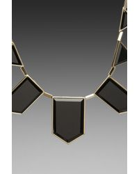 House of Harlow 1960 - Black Resin Necklace - Lyst