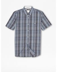 French Connection Robot Lifeline Check Shirt - Lyst