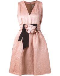 Lanvin Flower Detail Dress - Lyst