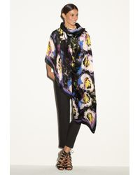 Milly | Midnight Floral Scarf | Lyst
