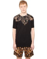 Marcelo Burlon Cotton Jersey Snake T-Shirt - Lyst