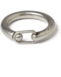 Cheap Monday Clasp Ring - Silver silver - Lyst