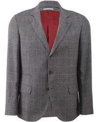 Brunello Cucinelli Windowpane Jacket - Lyst