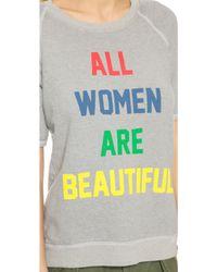 Rxmance - All Women Short Sleeve Sweatshirt - Dawn Grey - Lyst