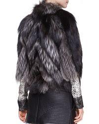 J. Mendel Silver Fox Fur Jacket - Metallic