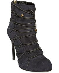 Eugene Riconneaus - 115mm Suede Bondage Ankle Boots - Lyst