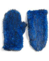 Love Token | Genuine Mink Fur Mittens | Lyst