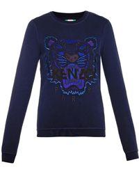 Kenzo Tiger-Embroidered Sweatshirt - Lyst