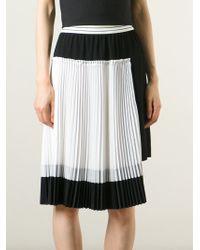 Isola Marras - Pleated Godet Skirt - Lyst