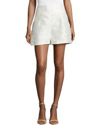 Carolina Herrera Baroque Devore Shorts - Lyst