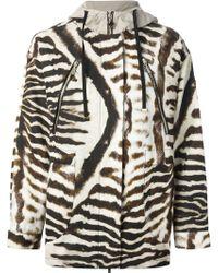 Moncler Gamme Rouge Zebra Print Jacket - Multicolor