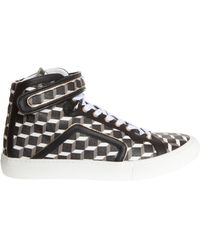 Pierre Hardy Cube Print Canvas High Top - Lyst