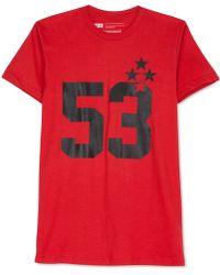 Levi's Kauffman Crew-Neck T-Shirt red - Lyst