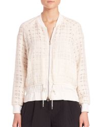 3.1 Phillip Lim | Tweed Cinched Bomber Jacket | Lyst