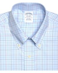 Brooks Brothers Supima Cotton Noniron Slim Fit Buttondown Twill Alternating Plaid Luxury Dress Shirt - Lyst