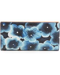 Marc By Marc Jacobs Sophisticato Aki Floral Tomoko Wallet Skipper Blue Multi - Lyst