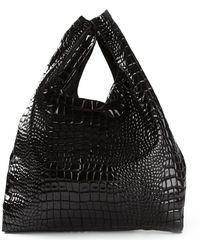 Mm6 By Maison Martin Margiela Snake-effect Shoulder Bag - Lyst