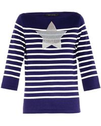 Marc Jacobs Embellished Striped Sweater - Lyst