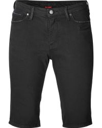 Zadig & Voltaire | Fitted Jean Short - Black | Lyst