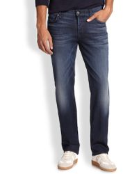 7 For All Mankind Luxe Performance: Standard Straight-Leg Jeans - Lyst