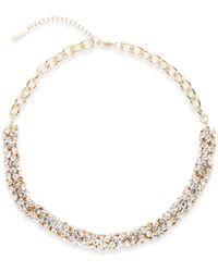 Saks Fifth Avenue Tubular Cluster Collar Necklace/Gold - Lyst