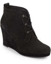 DV by Dolce Vita Patrix Suede Wedge Ankle Boots - Lyst