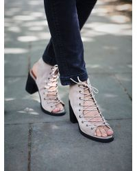 Free People Minimal Lace Up Heel - Lyst