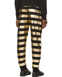 Versus  Black and Gold Striped Lounge Pants - Lyst