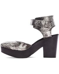 Free People Silver Percy Clog - Lyst