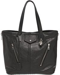 Alexander McQueen Padlock Buffalo Leather Tote Bag - Lyst